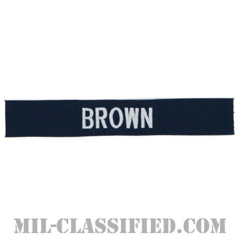 BROWN [カバーオール用/シルバー刺繍/海軍ネームテープ/生地テープパッチ]の画像