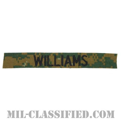 WILLIAMS [MARPAT/ウッドランド/海兵隊ネームテープ/生地テープパッチ]の画像