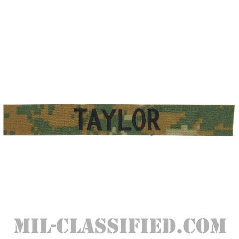 TAYLOR [MARPAT/ウッドランド/海兵隊ネームテープ/生地テープパッチ]の画像