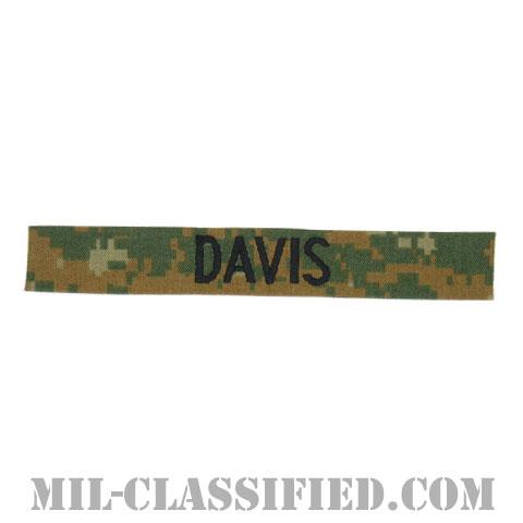 DAVIS [MARPAT/ウッドランド/海兵隊ネームテープ/生地テープパッチ]の画像