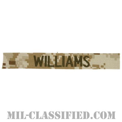 WILLIAMS [MARPAT/デザート/海兵隊ネームテープ/生地テープパッチ]の画像