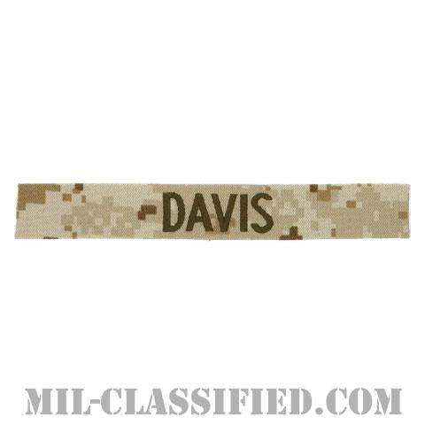 DAVIS [MARPAT/デザート/海兵隊ネームテープ/生地テープパッチ]の画像