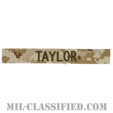 TAYLOR [MARPAT/デザート/海兵隊ネームテープ/生地テープパッチ]の画像
