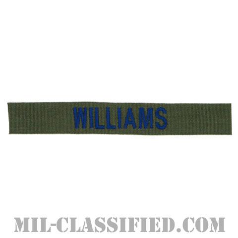 WILLIAMS [サブデュード/ブルー刺繍/空軍ネームテープ/パッチ]の画像