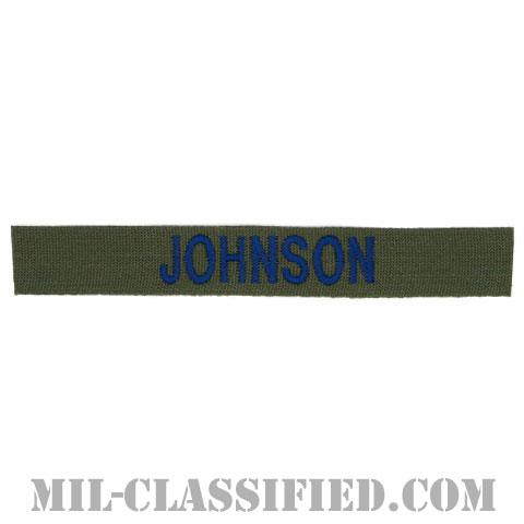 JOHNSON [サブデュード/ブルー刺繍/空軍ネームテープ/パッチ]の画像