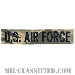 U.S.AIR FORCE [ABU/ブルー刺繍/空軍ネームテープ/ベルクロ付パッチ]の画像