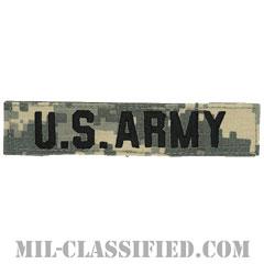 U.S.ARMY [UCP(ACU)/ブラック刺繍/ネームテープ/ベルクロ付パッチ]の画像