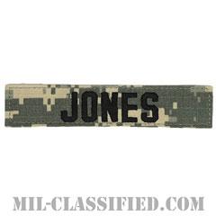 JONES [UCP(ACU)/ブラック刺繍/ネームテープ/ベルクロ付パッチ]の画像