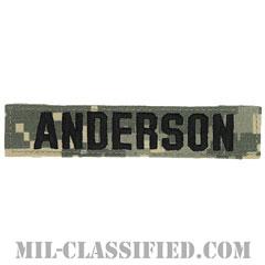 ANDERSON [UCP(ACU)/ブラック刺繍/ネームテープ/ベルクロ付パッチ]の画像