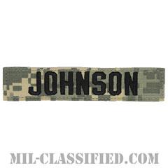 JOHNSON [UCP(ACU)/ブラック刺繍/ネームテープ/ベルクロ付パッチ]の画像