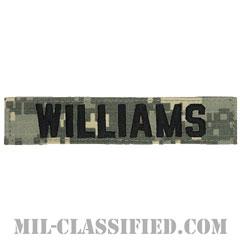 WILLIAMS [UCP(ACU)/ブラック刺繍/ネームテープ/ベルクロ付パッチ]の画像
