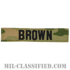 BROWN [OCP/ブラック刺繍/ネームテープ/ベルクロ付パッチ]の画像