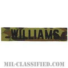 WILLIAMS [OCP/ブラック刺繍/ネームテープ/ベルクロ付パッチ]の画像