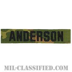 ANDERSON [OCP/ブラック刺繍/ネームテープ/ベルクロ付パッチ]の画像