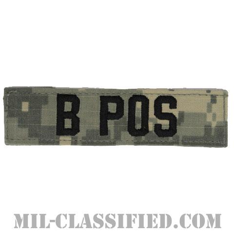 B POS [UCP(ACU)/ブラック刺繍/血液型テープ/ベルクロ付パッチ]の画像