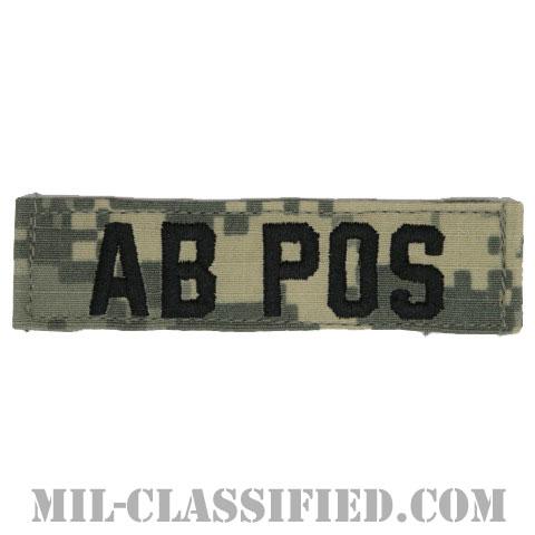AB POS [UCP(ACU)/ブラック刺繍/血液型テープ/ベルクロ付パッチ]の画像
