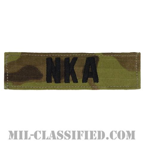 NKA(薬物アレルギーなし) [OCP/ブラック刺繍/血液型テープ/ベルクロ付パッチ]の画像