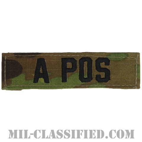 A POS [OCP/ブラック刺繍/血液型テープ/ベルクロ付パッチ]の画像