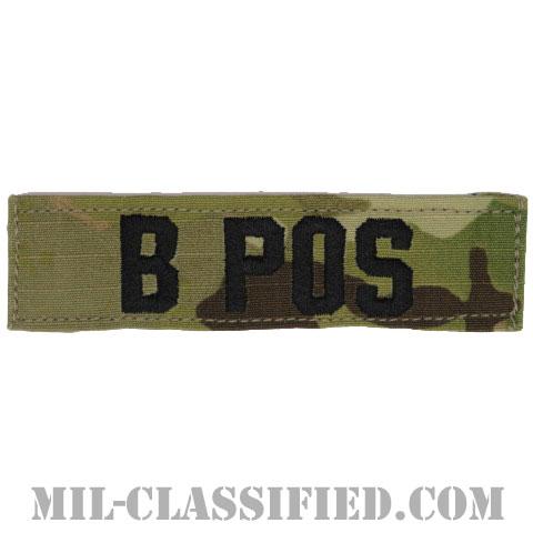 B POS [OCP/ブラック刺繍/血液型テープ/ベルクロ付パッチ]の画像