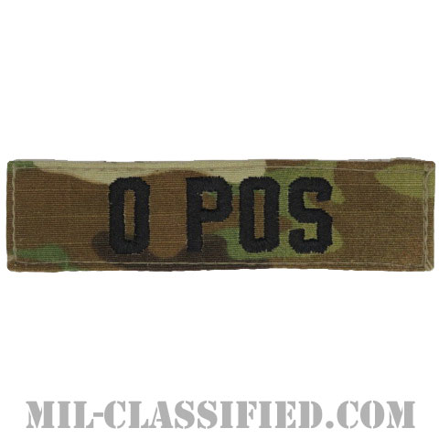 O POS [OCP/ブラック刺繍/血液型テープ/ベルクロ付パッチ]の画像