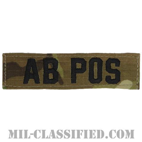 AB POS [OCP/ブラック刺繍/血液型テープ/ベルクロ付パッチ]の画像