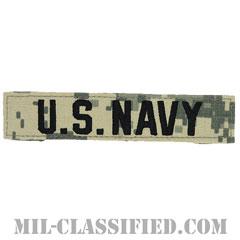 U.S.NAVY [UCP(ACU)/ブラック刺繍/ネームテープ/ベルクロ付パッチ]の画像