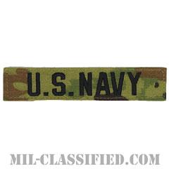 U.S.NAVY [OCP/ブラック刺繍/ネームテープ/ベルクロ付パッチ]の画像