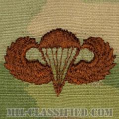 空挺章 (ベーシック)(Parachutist Badge, Basic)[OCP/ブラウン刺繍/パッチ]の画像
