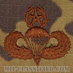 空挺章 (マスター)(Parachutist Badge, Master, Master)[OCP/ブラウン刺繍/パッチ]の画像