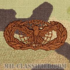 部隊防護章 (ベーシック)(Force Protection Badge, Basic)[OCP/ブラウン刺繍/パッチ]の画像
