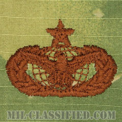 部隊防護章 (シニア)(Force Protection Badge, Senior)[OCP/ブラウン刺繍/パッチ]の画像