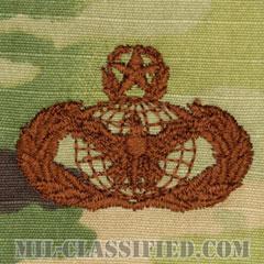 部隊防護章 (マスター)(Force Protection Badge, Master)[OCP/ブラウン刺繍/パッチ]の画像