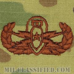 爆破物処理章 (シニア) (Explosive Ordnance Disposal (EOD), Badge, Senior)[OCP/ブラウン刺繍/パッチ]の画像