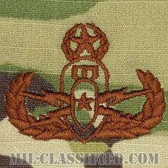 爆破物処理章 (マスター) (Explosive Ordnance Disposal (EOD), Badge, Master)[OCP/ブラウン刺繍/パッチ]の画像