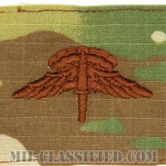 自由降下章 (ベーシック) (Military Freefall Parachutist Badge, HALO, Basic)[OCP/ブラウン刺繍/パッチ]の画像