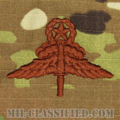 自由降下章 (マスター) (Military Freefall Parachutist Badge, HALO, Jumpmaster)[OCP/ブラウン刺繍/パッチ]の画像