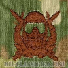 特殊作戦潜水員章(Diver Badge, Special Operations Diver)[OCP/ブラウン刺繍/パッチ]の画像