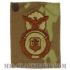 空軍警備隊章 (セキュリティーフォース・セキュリティーポリス)(Security Forces Badge, Security Police Badge)[OCP/ブラウン刺繍/パッチ]の画像