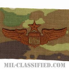 航空機操縦士章 (シニア・パイロット)(Air Force Senior Pilot Badge)[OCP/ブラウン刺繍/パッチ]の画像