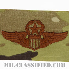 航空機操縦士章 (コマンド・パイロット)(Air Force Command Pilot Badge)[OCP/ブラウン刺繍/パッチ]の画像