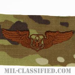 航空機搭乗員章 (将校用エアクルー)(Air Force Officer Aircrew Badge)[OCP/ブラウン刺繍/パッチ]の画像
