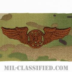 航空機搭乗員章 (下士官用エアクルー)(Air Force Enlisted Aircrew Badge)[OCP/ブラウン刺繍/パッチ]の画像