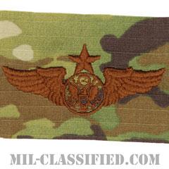 航空機搭乗員章 (下士官用シニア・エアクルー)(Air Force Enlisted Senior Aircrew Badge)[OCP/ブラウン刺繍/パッチ]の画像