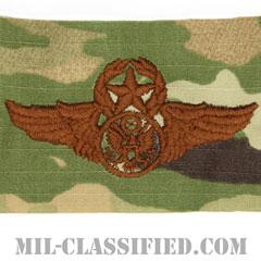 航空機搭乗員章 (下士官用マスター・エアクルー)(Air Force Enlisted Master Aircrew Badge)[OCP/ブラウン刺繍/パッチ]の画像