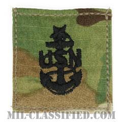 上級上等兵曹(Senior Chief Petty Officer)[OCP/海軍階級章/ベルクロ付パッチ]の画像