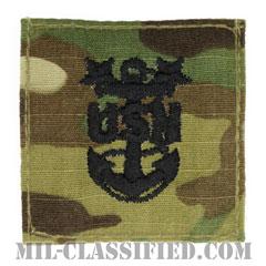 最先任上等兵曹(Master Chief Petty Officer)[OCP/海軍階級章/ベルクロ付パッチ]の画像
