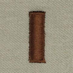 少尉(Second Lieutenant (2LT))[ABU/空軍階級章/パッチ/ペア(2枚1組)]の画像