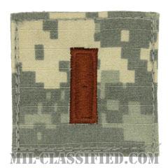 少尉(Second Lieutenant (2LT))[UCP(ACU)/空軍階級章/ベルクロ付パッチ]の画像