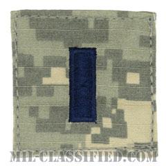 中尉(First Lieutenant (1LT))[UCP(ACU)/空軍階級章/ブルー刺繍/ベルクロ付パッチ]の画像
