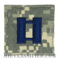 大尉(Captain (CPT))[UCP(ACU)/空軍階級章/ブルー刺繍/ベルクロ付パッチ]の画像